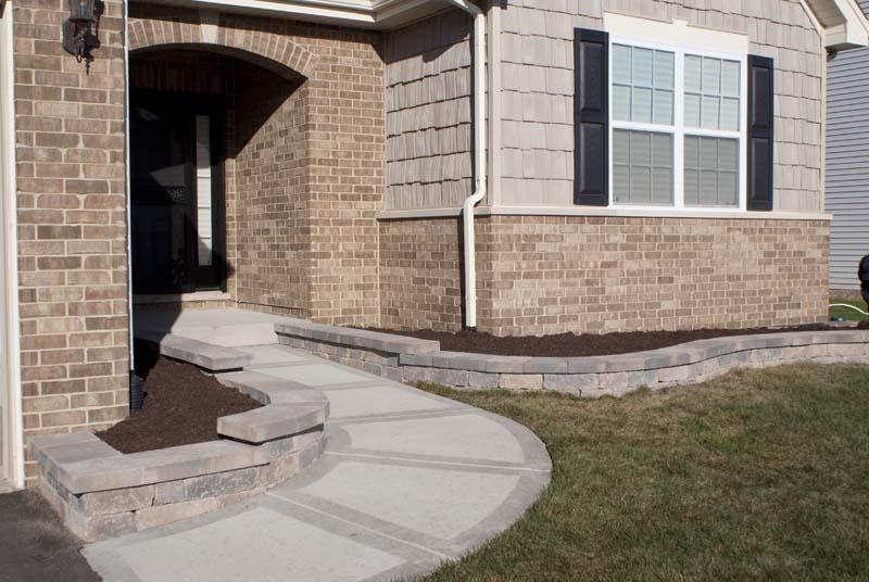 Retaining Wall & Walkway