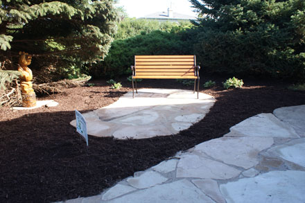 Flagstone Patio Seating Area & Driveway Apron
