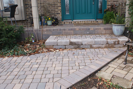 Paveloc Paver Stone Walkway and Porch